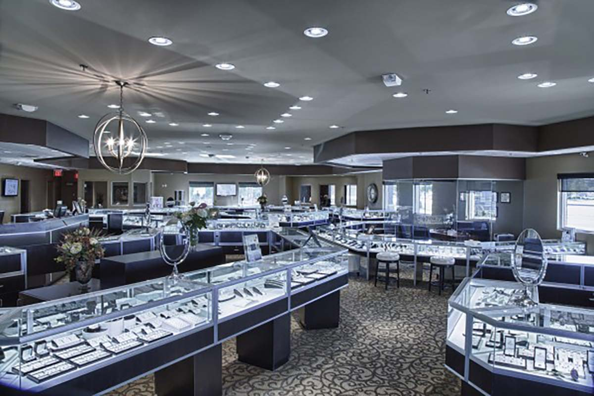 LED lighting solutions for Jewellery stores and shops UK