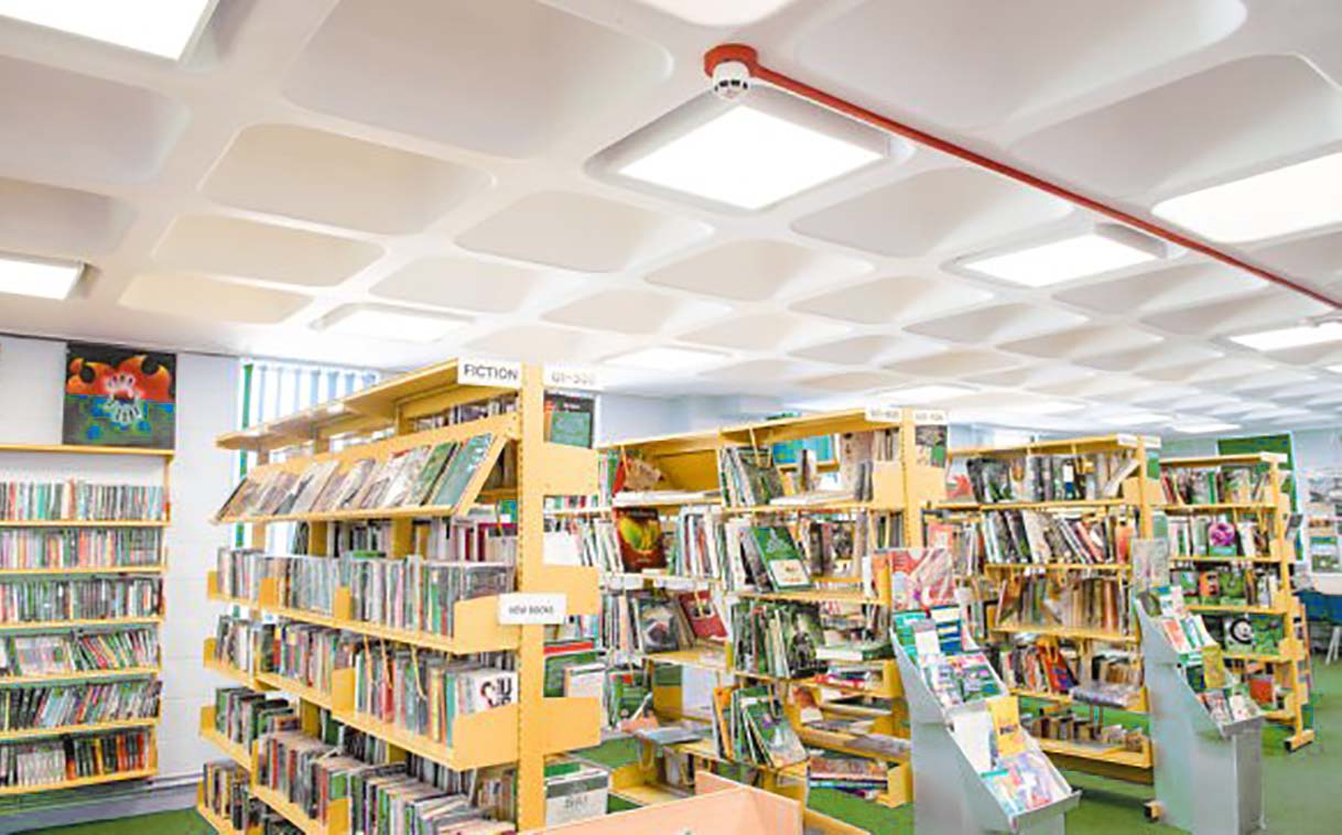 LED lighting solutions for libraries in schools