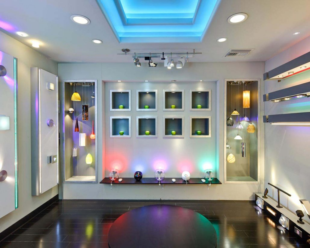 Retail shops enhanced with LED lighting systems
