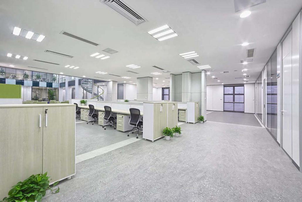 Office LED lighting solutions by Smart Energy Lights and LED UK in the Midlands
