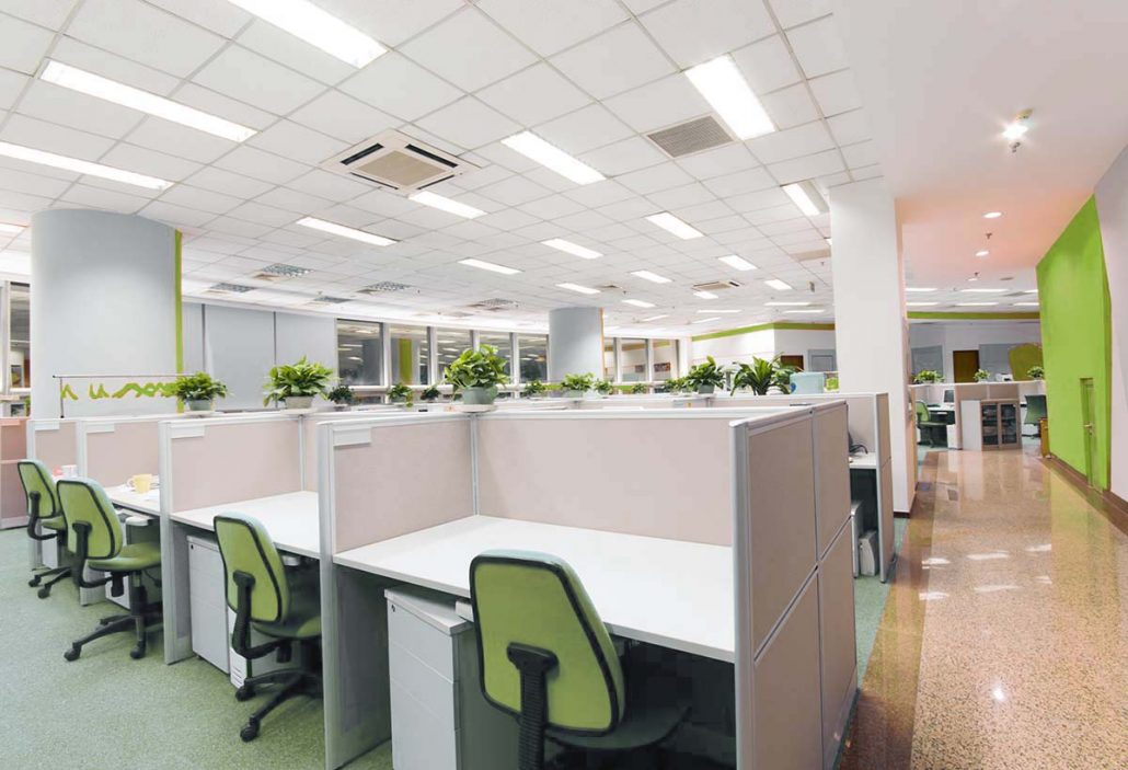Office LED Lighting installation and design