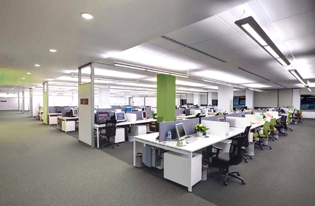 LED lighting solutions for an Open plan office in the UK and the Midlands