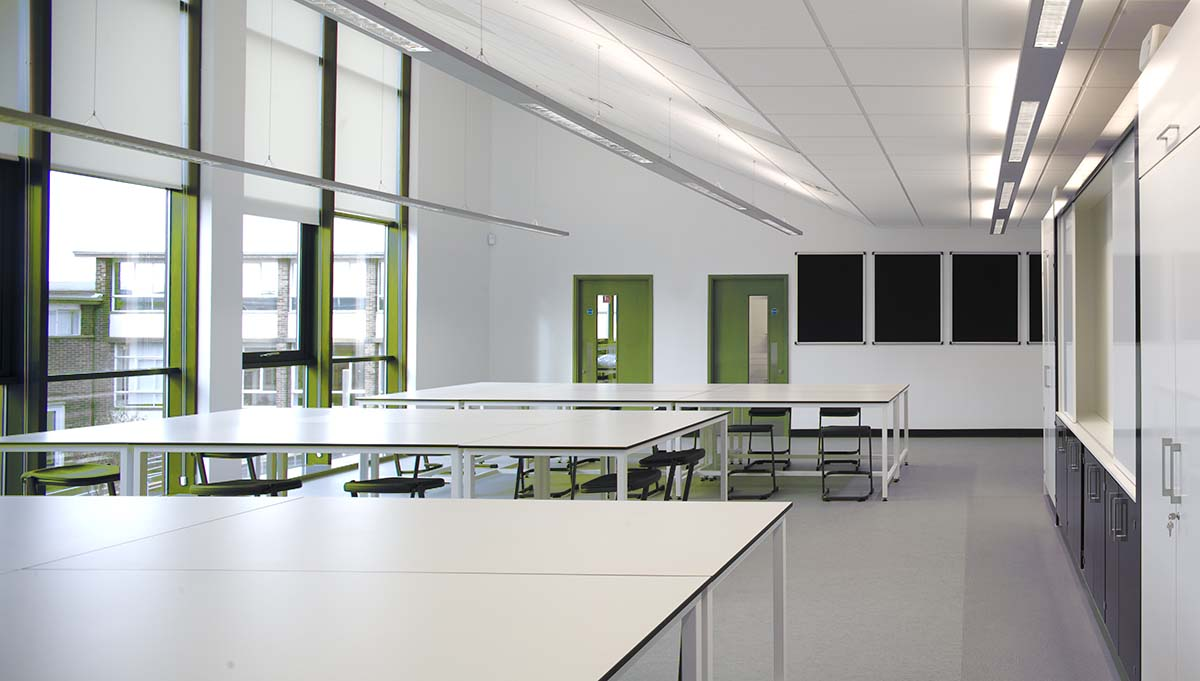 School classroom led lighting solutions in the Midlands UK