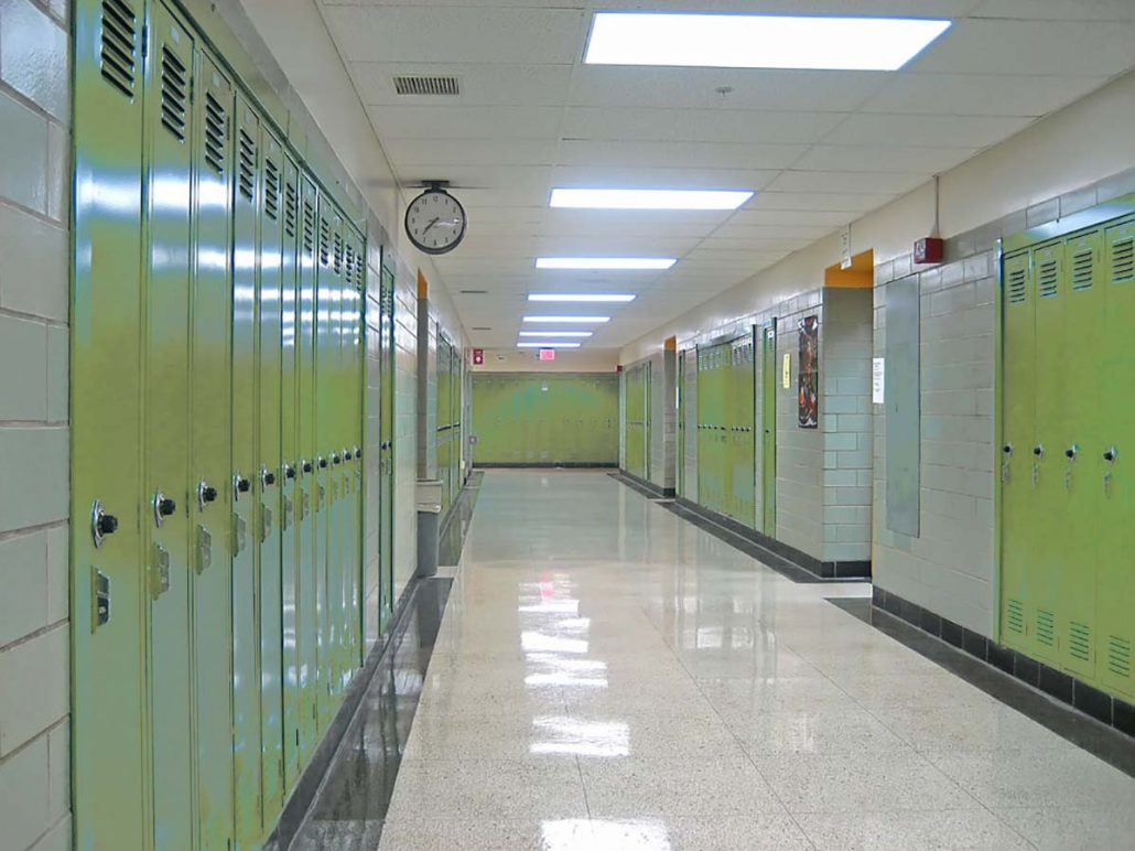 School halls and corridors LED lighting solutions