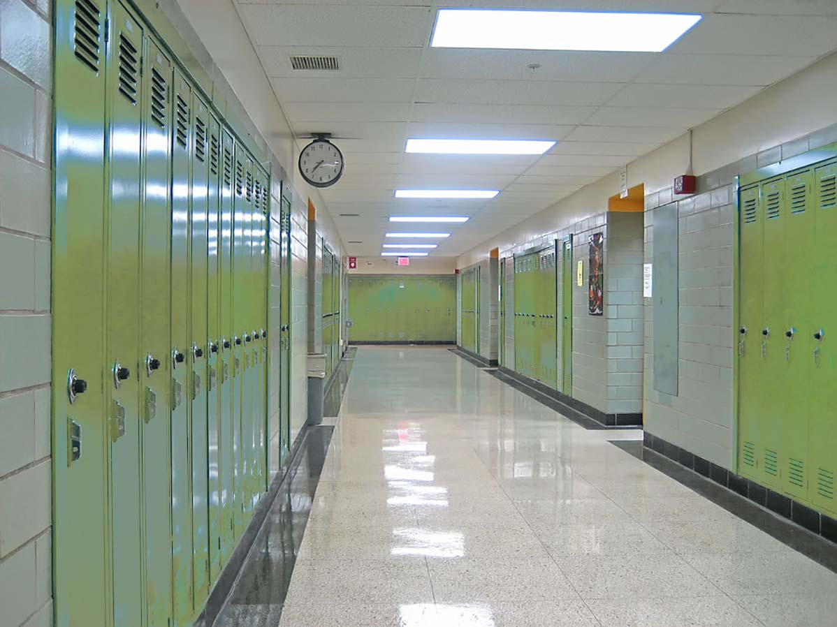 School halls and corridors LED lighting solutions